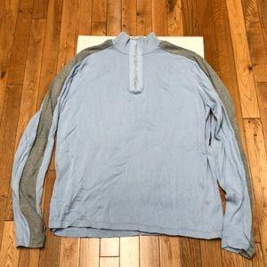 DKNY mens 1/2 zip long sleeve sweater slim fit